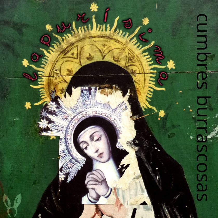 """Imágen de la Virgen de La Paloma en la portada del disco """"La Purísima"""" del grupo Cumbres Burrascosas"""". Imágen de Luis F. Roncero."""