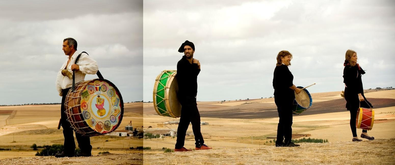 Eusebio, Pilar, Laura y Arturo de Grupo Mayalde: musica, tradición y folclore desde Salamanca.