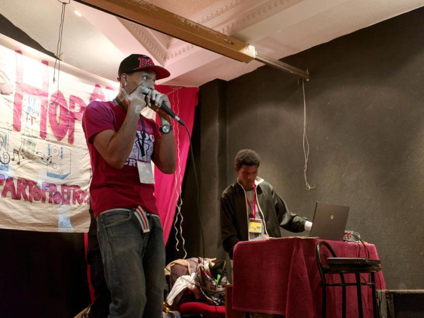 Stado Crítico. Festival Hip Hop Art Of Poetry en Lavapiés, Madrid. Fotografía de Luis F. Roncero.