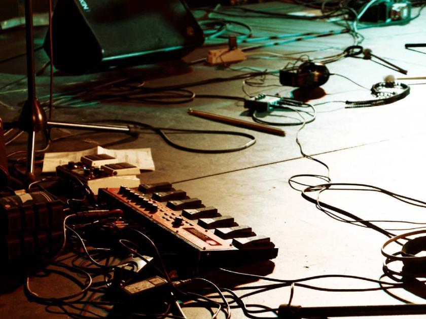 Loopstation en el concierto de Hyperpotamus. Fotografía de Luis F. Roncero.