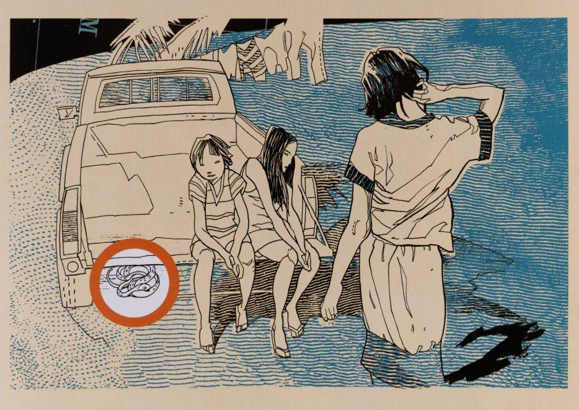 """Dieter Jüdt - Guam-Island of Snakes. Extraido del """"Atlas de la ilustración contemporánea"""" (Maomao Publications, en 2009)."""