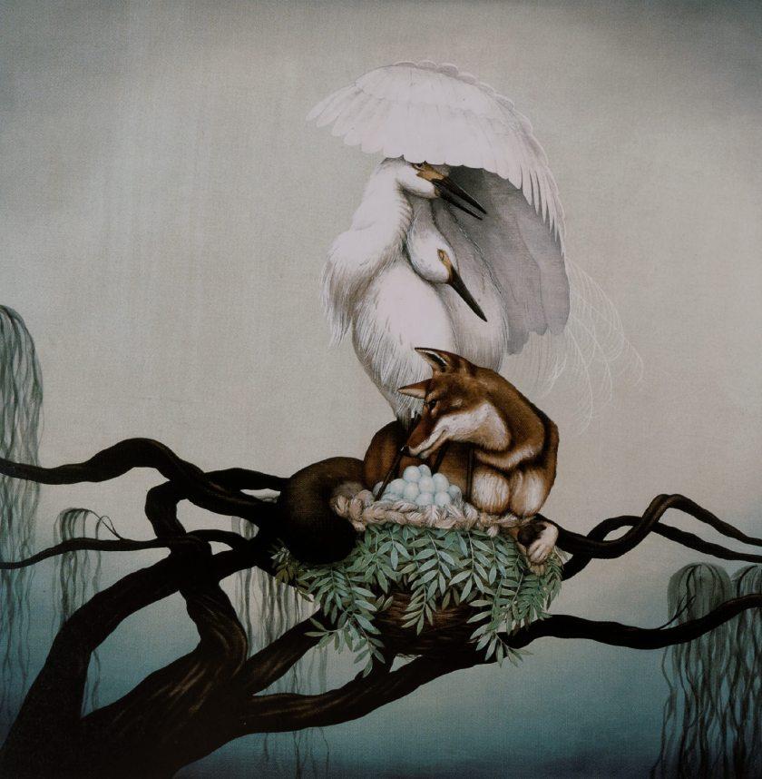 """Tiffany Bozic - Sin título 1. Extraido del """"Atlas de la ilustración contemporánea"""" (Maomao Publications, en 2009)."""