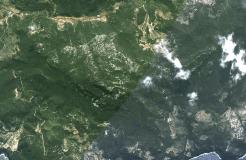 Chakra 2. En el triángulo formado por Estellencs, Banyalbufar y Esporles. La foto está girada 180 º con el mar en la parte inferior