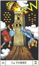 En el Tarot la carta nº 16 es la Torre. Ésta aparece con 3 ventanas, igual que tiene la torre de Canyamel