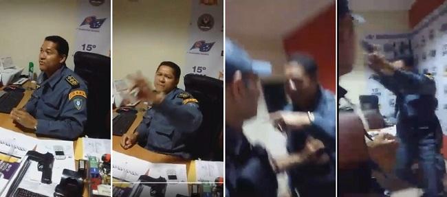 Tenente-coronel Miguel Neto se envolve em confusão em Bacabal