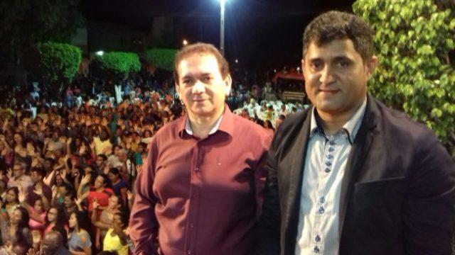 Prefeito de Turilândia, Alberto e o deputado Toca Serra no evento em Pedro do Rosário-MA