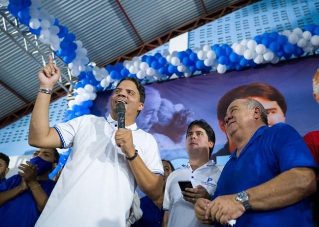 Prefeito Luciano (Pinheiro) participa da convenção de Fufuca em Alto Alegre do Pindaré