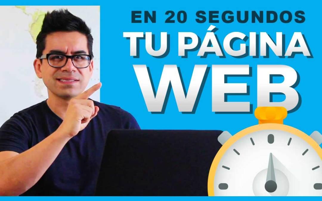 Cómo diseñar una página web en 20 segundos 🕓