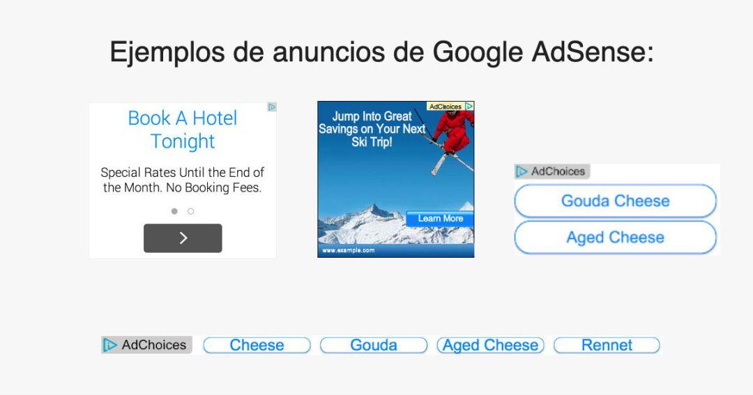 adsense ejemplos de anuncios