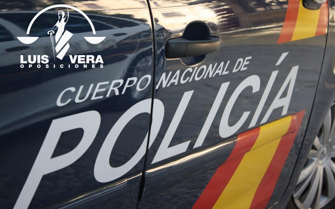 LISTA DE ADMITIDOS. OPOSICIONES CUERPO NACIONAL DE POLICÍA.
