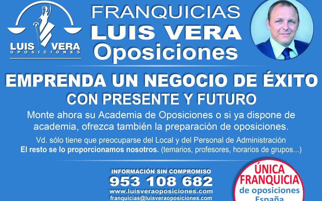 Luis Vera Oposiciones ofrece un negocio de éxito con la puesta en marcha de sus franquicias