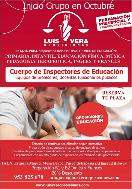 OPOSICIONES A MAGISTERIO E INSPECTORES DE EDUCACIÓN