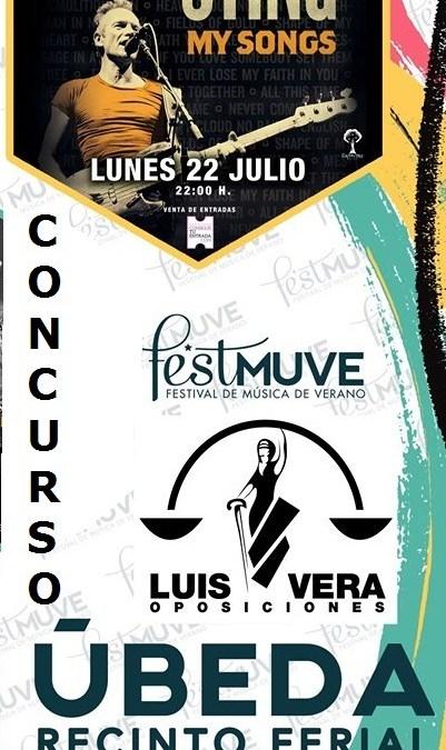 Concurso LUIS VERA OPOSICIONES – STING – FESTMUVE Úbeda 2019.