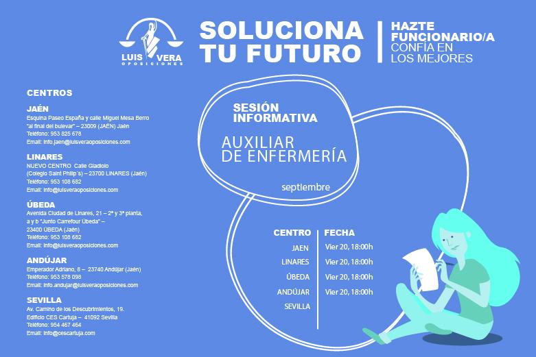 OPOSICIONES AUXILIAR DE ENFERMERÍA DIPUTACIÓN – Sesiones informativas en Septiembre