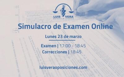 SIMULACRO DE EXAMEN EN DIRECTO Y ONLINE
