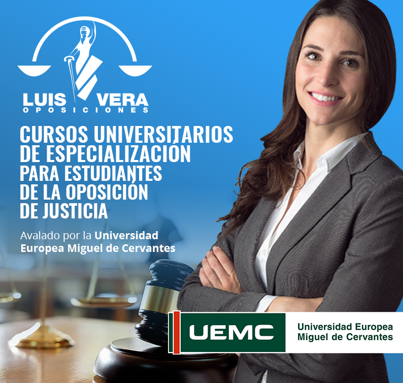 CURSOS UNIVERSITARIOS DE ESPECIALIZACIÓN PARA ESTUDIANTES DE LA OPOSICIÓN DE JUSTICIA