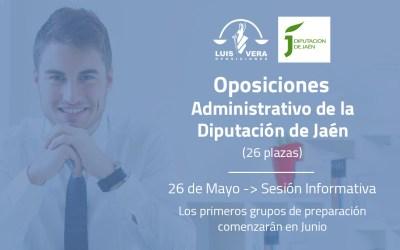 La Diputación Provincial convoca 26 plazas de Administrativo/a mediante el sistema de oposición libre