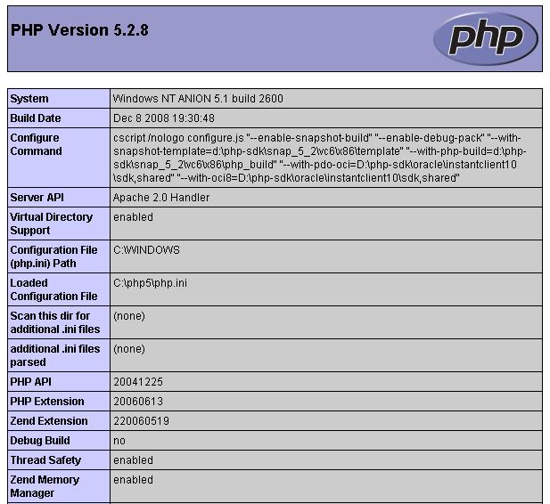 Instalando e Configurando o PHP 5 e o Apache 2.2 no Windows (6/6)