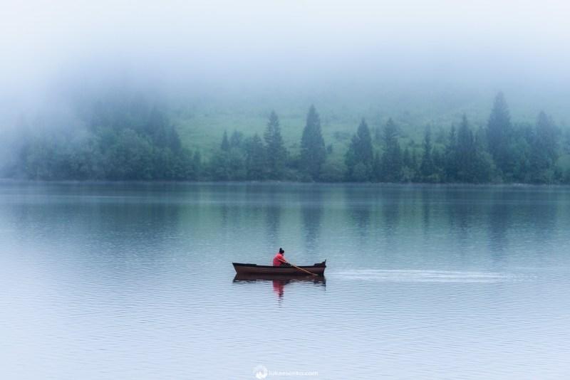 Lake Bohinj in mist
