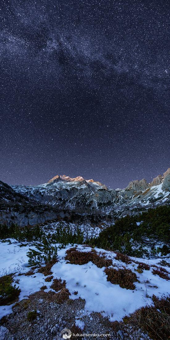 Milky way above Triglav