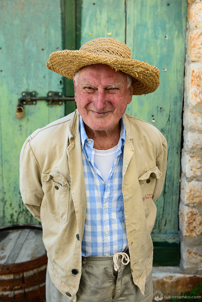 Old man in Croatia