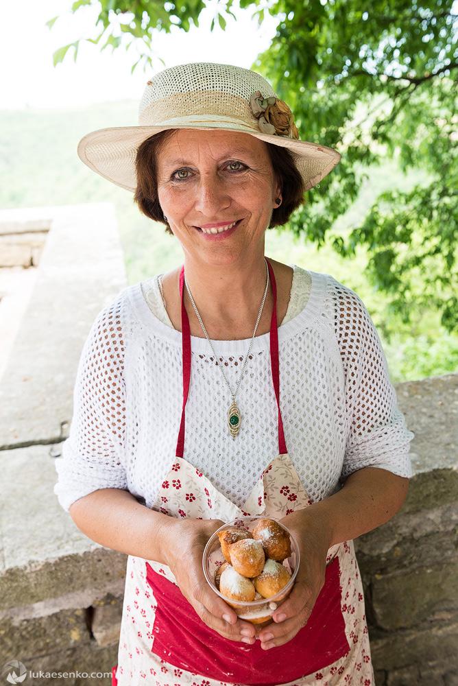 Friendly lady in Grožnjan