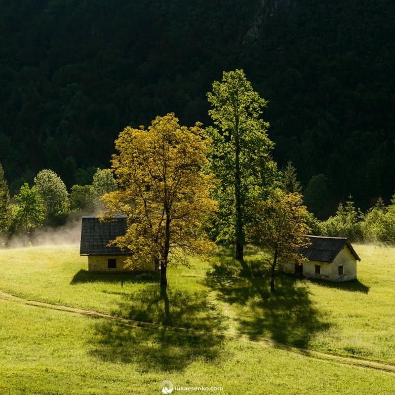 Voje valley in the morning