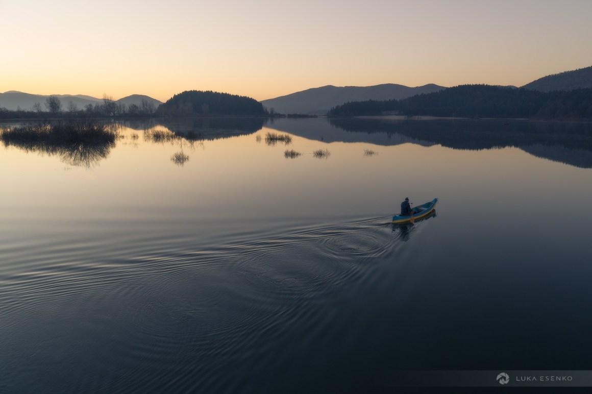 Canoeing on Lake Cerknica