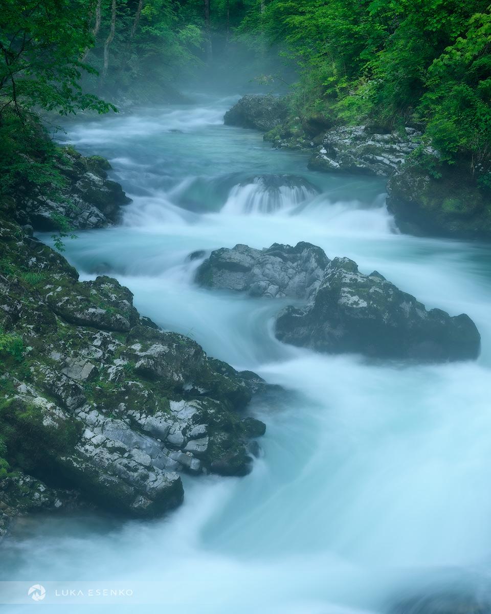 Vintgar gorge after rain