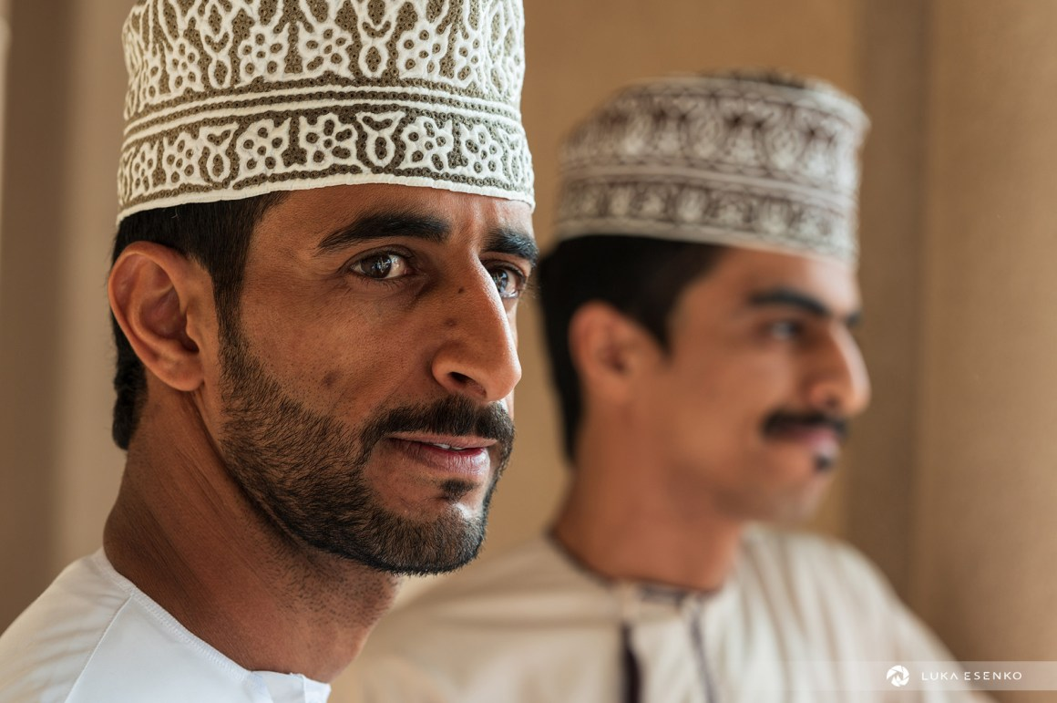 Omani men at Nizwa souq