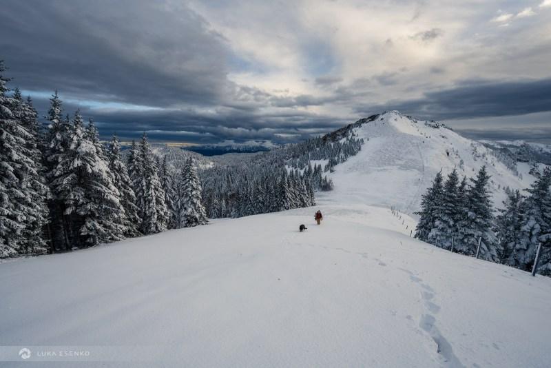 Soriška planina in snow