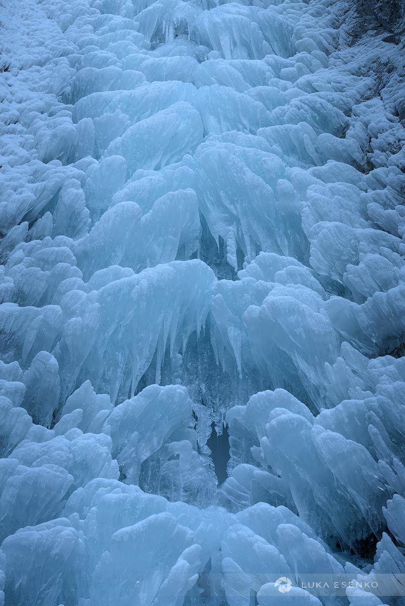 Frozen Waterfall Julian Alps
