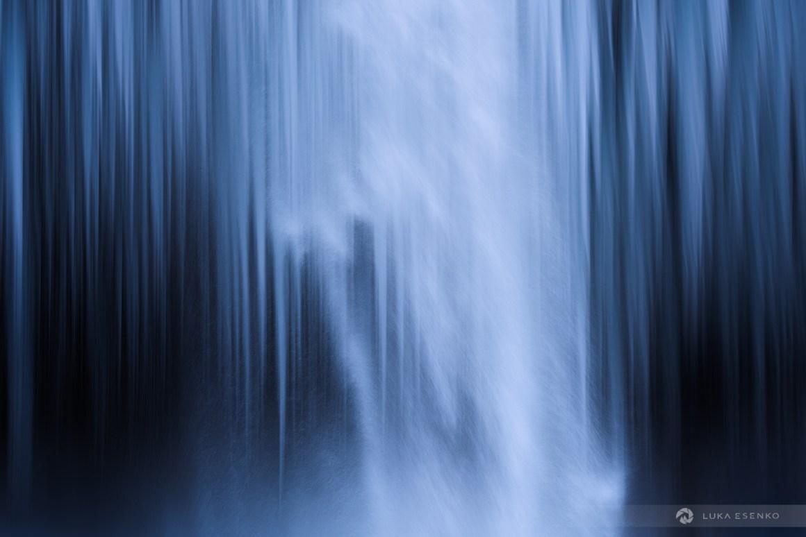Fine art prints Slovenia waterfall