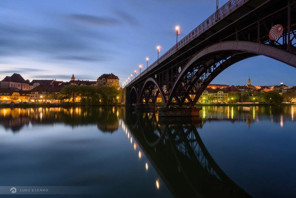 Maribor at night - Nikon 20mm 1.8 S lens