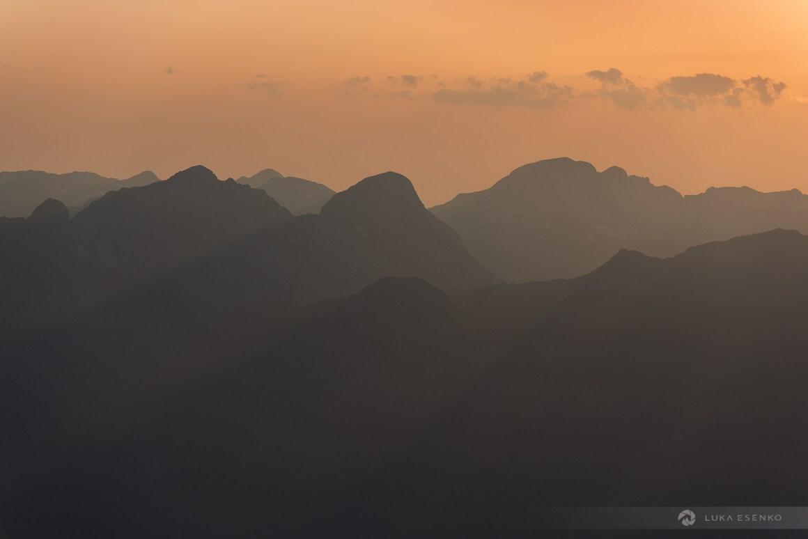 Sunset in Prokletije mountains