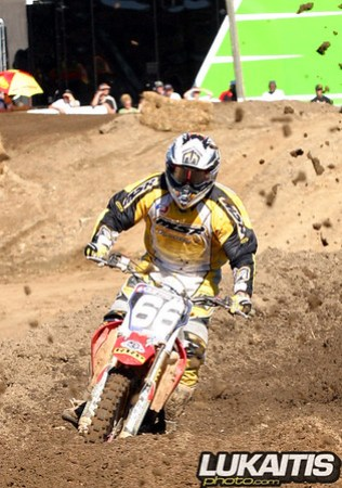 Damian Plotts was second overall in the 125 Expert class.