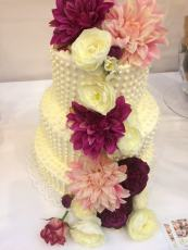 Hochzeitstorte - Blumen