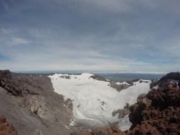Der Krater des Vulkans!