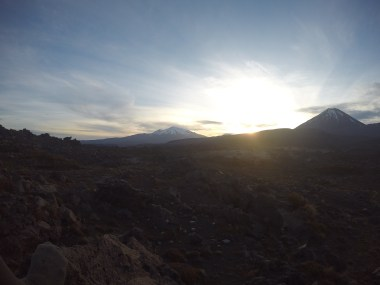 Der Sonnenuntergang an der Oturere Hut!