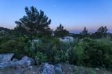 Mondaufgang bei Les Beaux