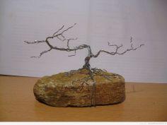 Drzewko Bonsai z drutu