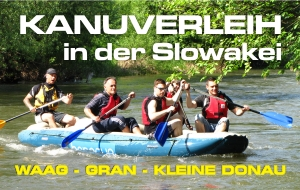 Kanuverleih in der Slowakei