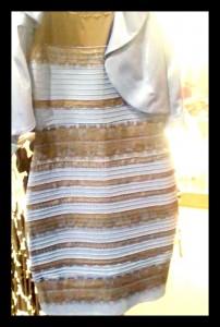 white gold dress or