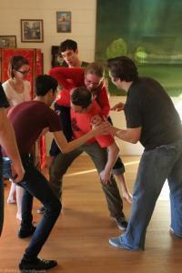 Luke Teaching Safe Spotting at Atomic Blues Fusion 2012