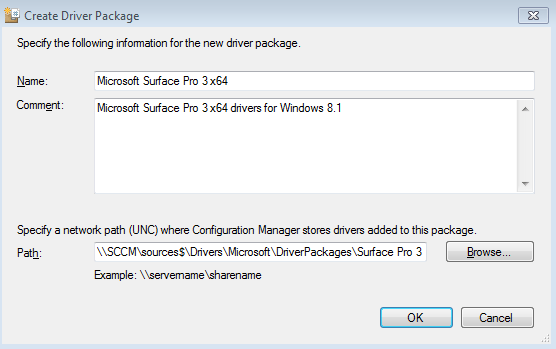 Importing drivers into System Center Configuration Manager