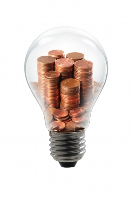 Light bulb pennies