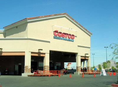 Costco wholesale warehouse entrance