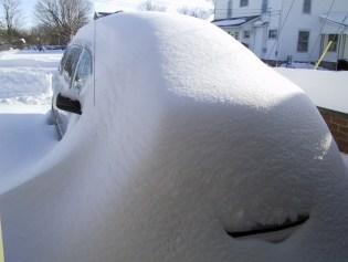 snow covering van