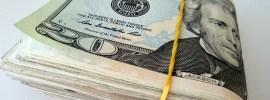 $20 bills folded over