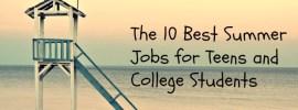 summer jobs for teens